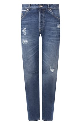 Мужские джинсы BRUNELLO CUCINELLI синего цвета, арт. ME228X2350 | Фото 1