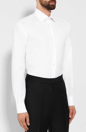 Мужская хлопковая сорочка BRIONI белого цвета, арт. RCLU1S/0804G   Фото 3