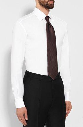 Мужская хлопковая сорочка BRIONI белого цвета, арт. RCLU1S/0804G   Фото 4