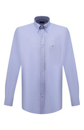 Мужская хлопковая рубашка PAUL&SHARK синего цвета, арт. C0P3000/C00 | Фото 1