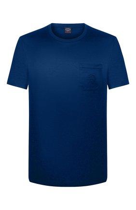 Мужская хлопковая футболка PAUL&SHARK синего цвета, арт. C0P1011/C00 | Фото 1