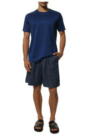 Мужская хлопковая футболка PAUL&SHARK синего цвета, арт. C0P1011/C00 | Фото 2