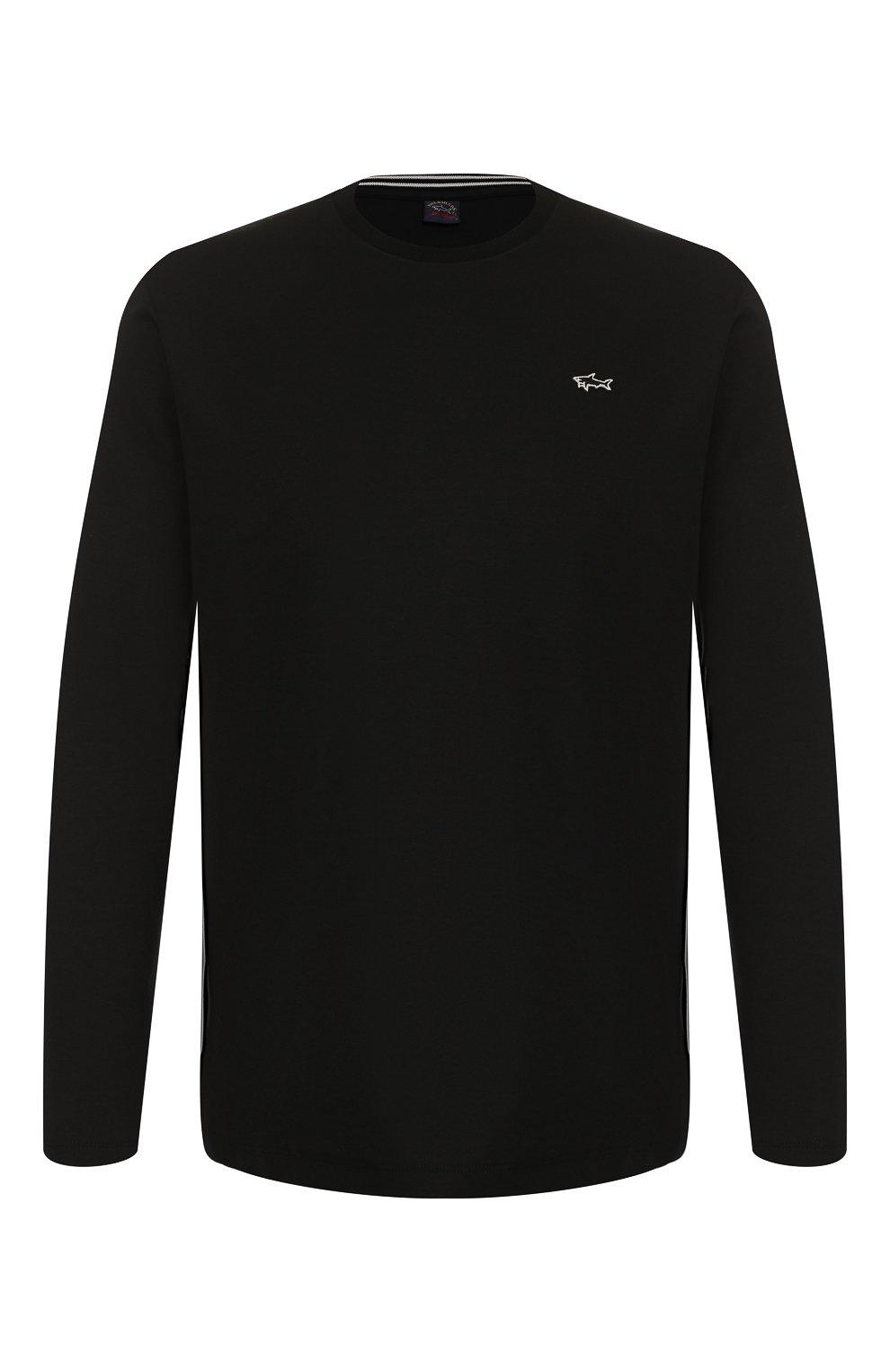 Мужская хлопковый лонгслив PAUL&SHARK черного цвета, арт. A19P1603 | Фото 1
