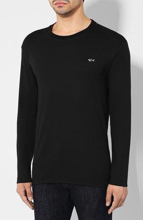 Мужская хлопковый лонгслив PAUL&SHARK черного цвета, арт. A19P1603 | Фото 3
