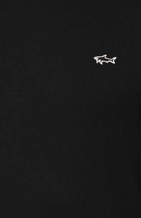 Мужская хлопковый лонгслив PAUL&SHARK черного цвета, арт. A19P1603 | Фото 5