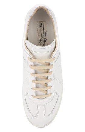 Мужские кожаные кеды MAISON MARGIELA белого цвета, арт. S57WS0280/P2712 | Фото 5