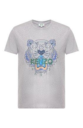 Мужская хлопковая футболка KENZO серого цвета, арт. F965TS0504YA | Фото 1