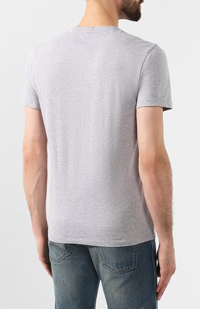 Мужская хлопковая футболка KENZO серого цвета, арт. F965TS0504YA | Фото 4