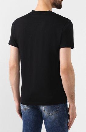 Мужская хлопковая футболка KENZO черного цвета, арт. F965TS0264YE | Фото 4