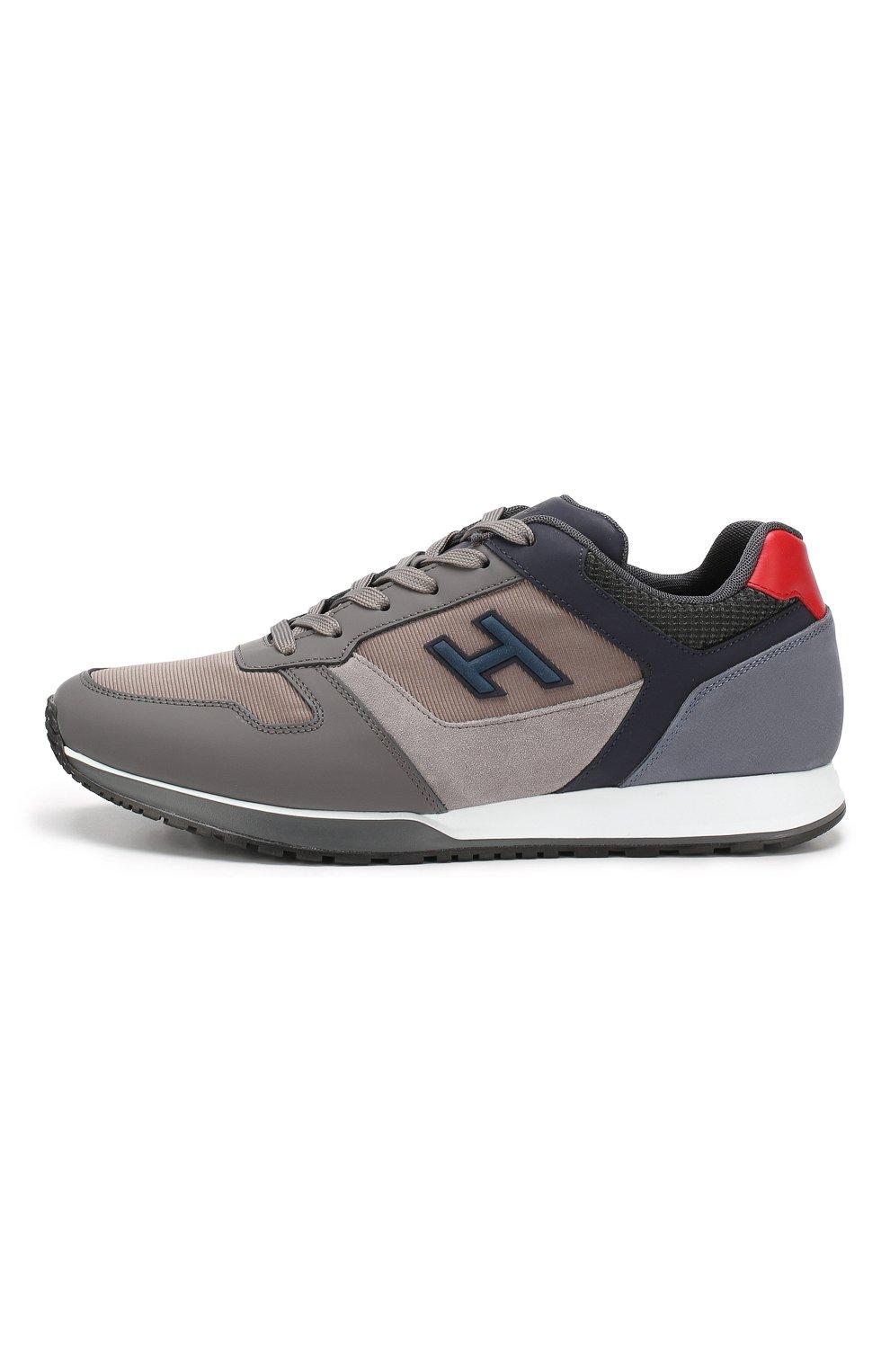 Мужские комбинированные кроссовки HOGAN серого цвета, арт. HXM3210Y860LIK | Фото 3