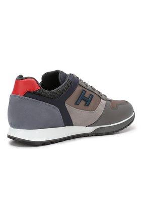 Мужские комбинированные кроссовки HOGAN серого цвета, арт. HXM3210Y860LIK | Фото 4
