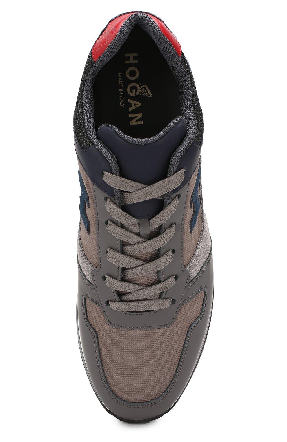Мужские комбинированные кроссовки HOGAN серого цвета, арт. HXM3210Y860LIK | Фото 5