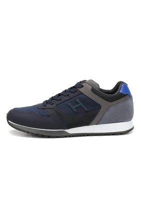 Мужские комбинированные кроссовки HOGAN синего цвета, арт. HXM3210Y860LIK | Фото 3