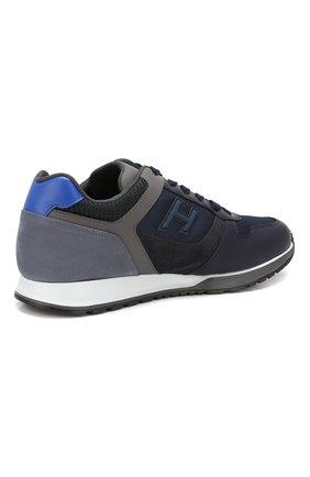 Мужские комбинированные кроссовки HOGAN синего цвета, арт. HXM3210Y860LIK | Фото 4