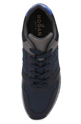 Мужские комбинированные кроссовки HOGAN синего цвета, арт. HXM3210Y860LIK | Фото 5