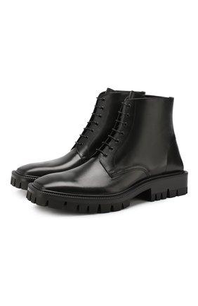 Мужские кожаные ботинки BALENCIAGA черного цвета, арт. 579684/WAUW0 | Фото 1
