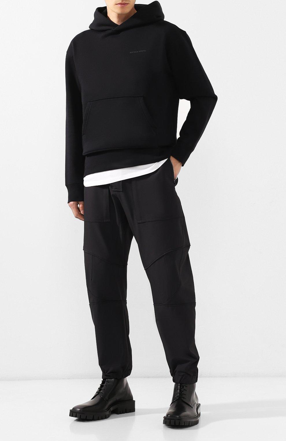 Мужские кожаные ботинки BALENCIAGA черного цвета, арт. 579684/WAUW0 | Фото 2