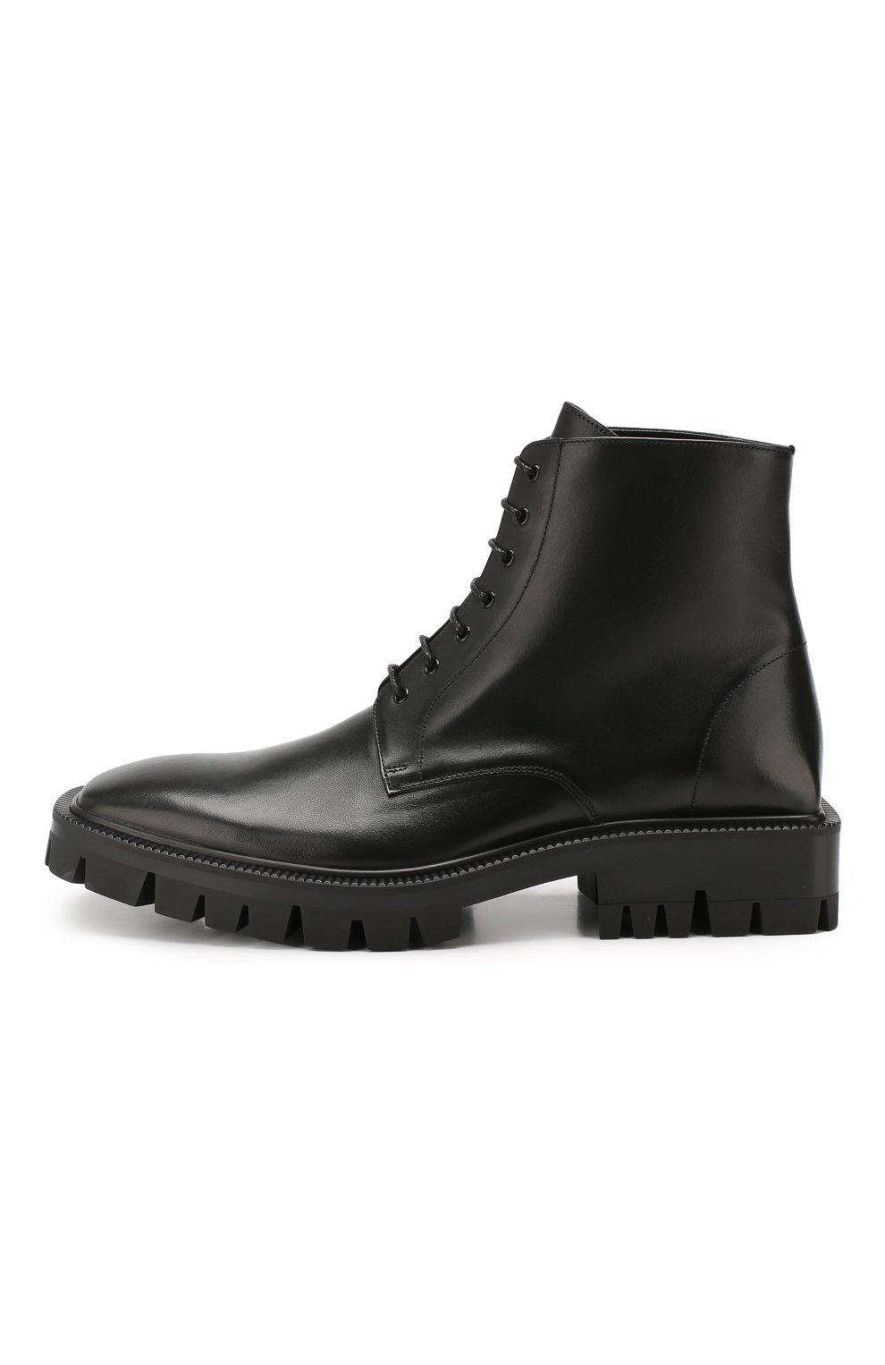 Мужские кожаные ботинки BALENCIAGA черного цвета, арт. 579684/WAUW0 | Фото 3