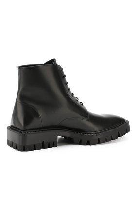 Мужские кожаные ботинки BALENCIAGA черного цвета, арт. 579684/WAUW0 | Фото 4