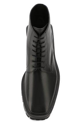 Мужские кожаные ботинки BALENCIAGA черного цвета, арт. 579684/WAUW0 | Фото 5
