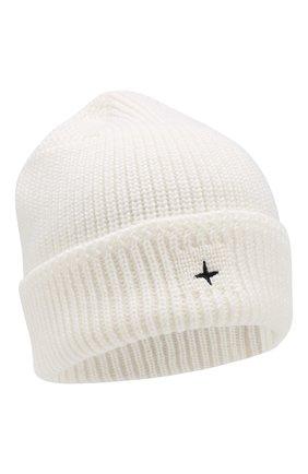 Мужская шерстяная шапка STONE ISLAND белого цвета, арт. 7115N05C3 | Фото 1