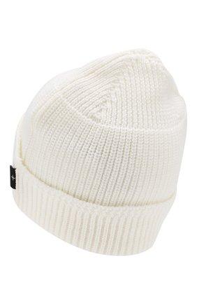 Мужская шерстяная шапка STONE ISLAND белого цвета, арт. 7115N05C3 | Фото 2