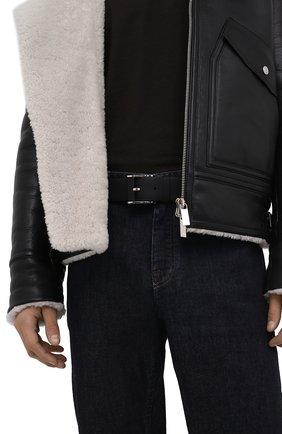 Мужской кожаный ремень ZILLI черного цвета, арт. MJL-CLAQE-01947/0232 | Фото 2