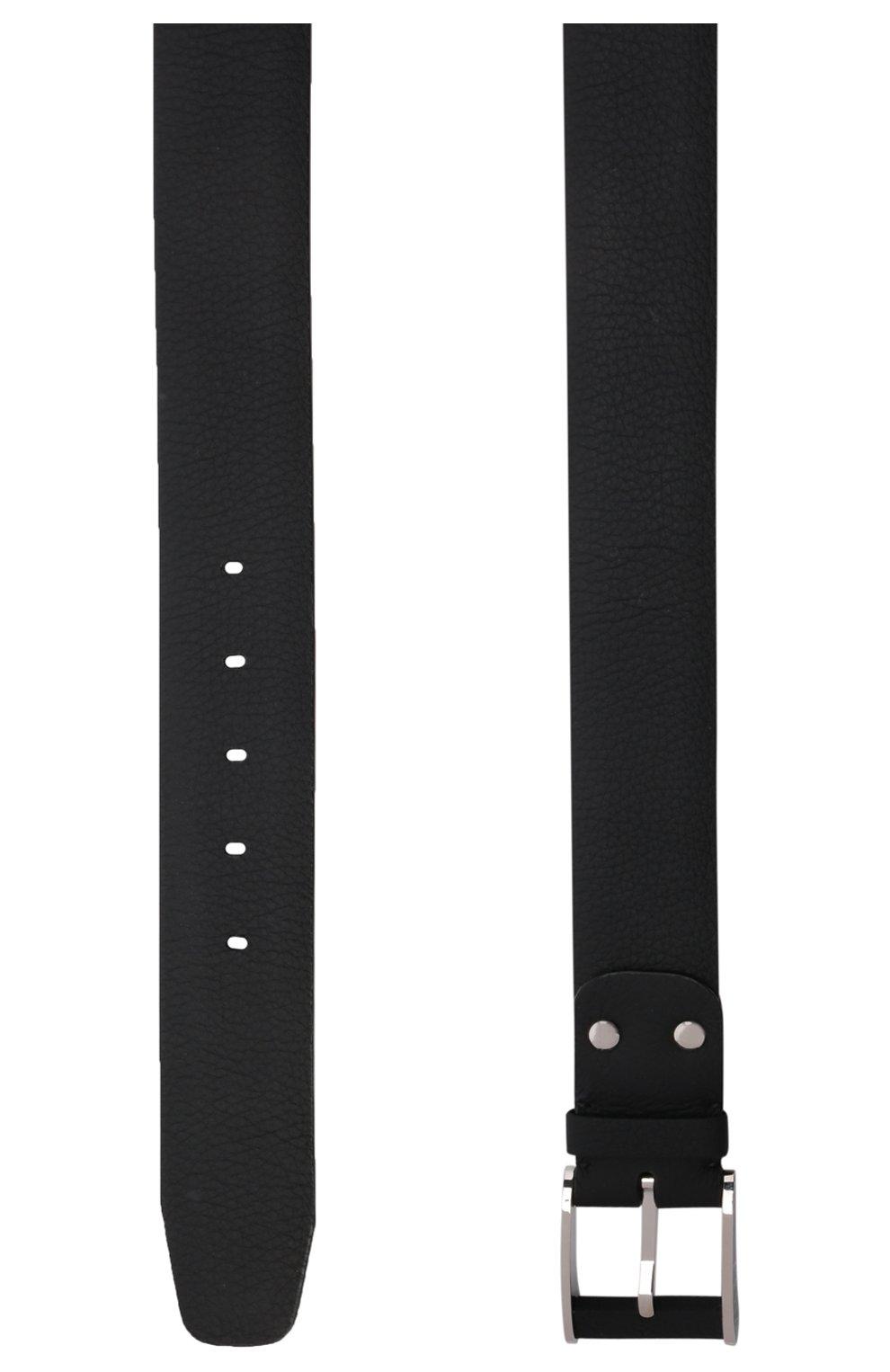 Кожаный ремень Zilli черный | Фото №3
