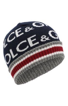 Детского шапка DOLCE & GABBANA синего цвета, арт. LBKH23/JAMC9 | Фото 1