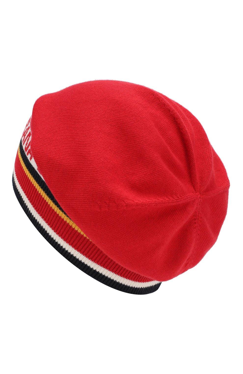 Детского шапка из хлопка и кашемира DOLCE & GABBANA красного цвета, арт. LBKH21/JAMC6 | Фото 2