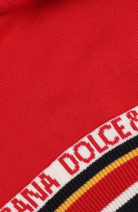 Детского шапка из хлопка и кашемира DOLCE & GABBANA красного цвета, арт. LBKH21/JAMC6 | Фото 3