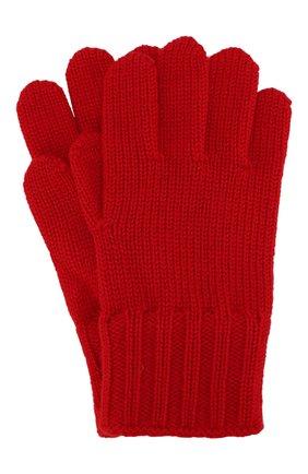 Детские шерстяные перчатки DOLCE & GABBANA красного цвета, арт. LBKA02/JAVRF | Фото 1