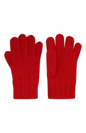 Детские шерстяные перчатки DOLCE & GABBANA красного цвета, арт. LBKA02/JAVRF | Фото 2
