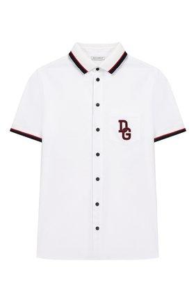 Детская хлопковая рубашка DOLCE & GABBANA белого цвета, арт. L4JS23/G7TVJ/2-6 | Фото 1
