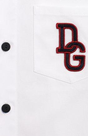 Детская хлопковая рубашка DOLCE & GABBANA белого цвета, арт. L4JS23/G7TVJ/2-6 | Фото 3