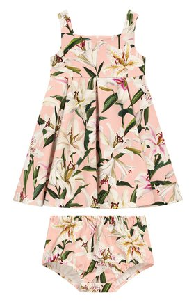 Женская комплект из платья и шорт DOLCE & GABBANA светло-розового цвета, арт. L2JD0S/FSGQW | Фото 1