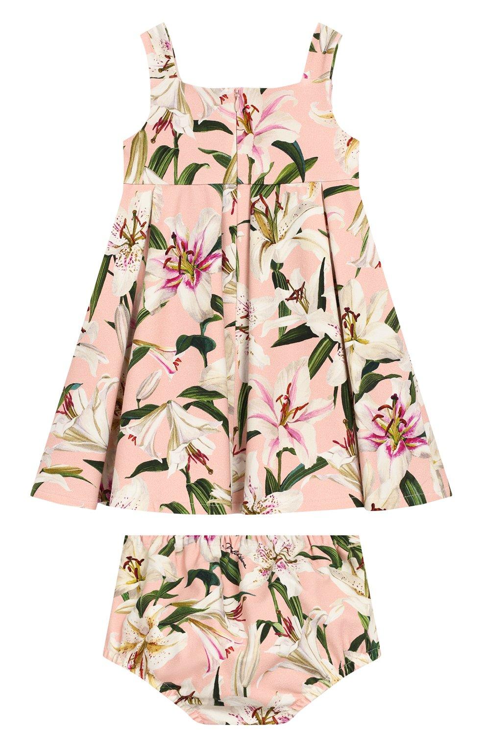 Женская комплект из платья и шорт DOLCE & GABBANA светло-розового цвета, арт. L2JD0S/FSGQW | Фото 2