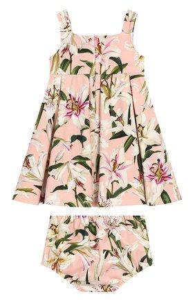 Женский комплект из платья и шорт DOLCE & GABBANA светло-розового цвета, арт. L2JD0S/FSGQW | Фото 2