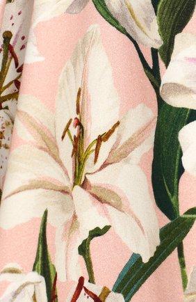 Женская комплект из платья и шорт DOLCE & GABBANA светло-розового цвета, арт. L2JD0S/FSGQW | Фото 3