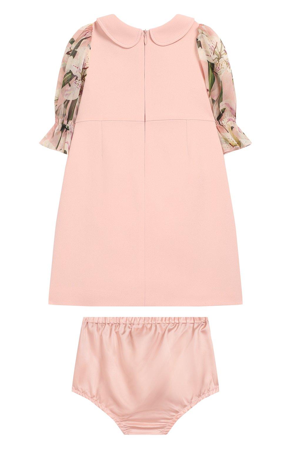 Женская комплект из платья и шорт DOLCE & GABBANA светло-розового цвета, арт. L21DQ3/G7SYY | Фото 2