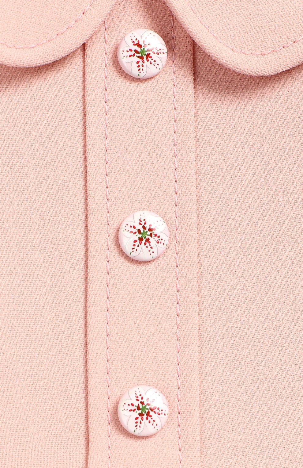 Женская комплект из платья и шорт DOLCE & GABBANA светло-розового цвета, арт. L21DQ3/G7SYY | Фото 3
