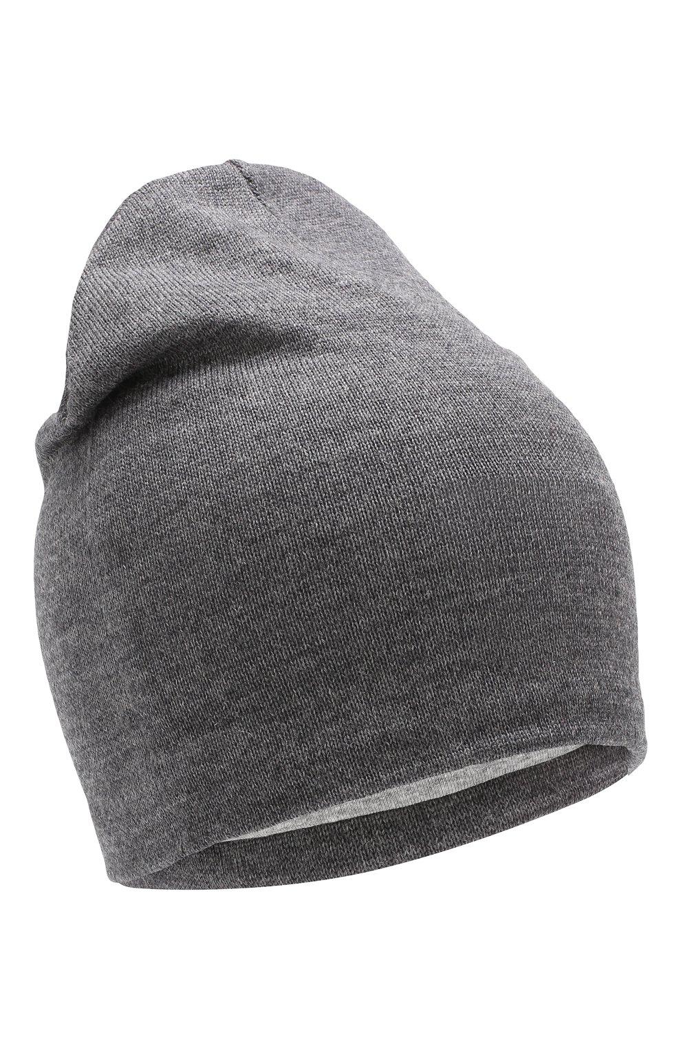 Детского шерстяная шапка CATYA темно-серого цвета, арт. 923690/1   Фото 1