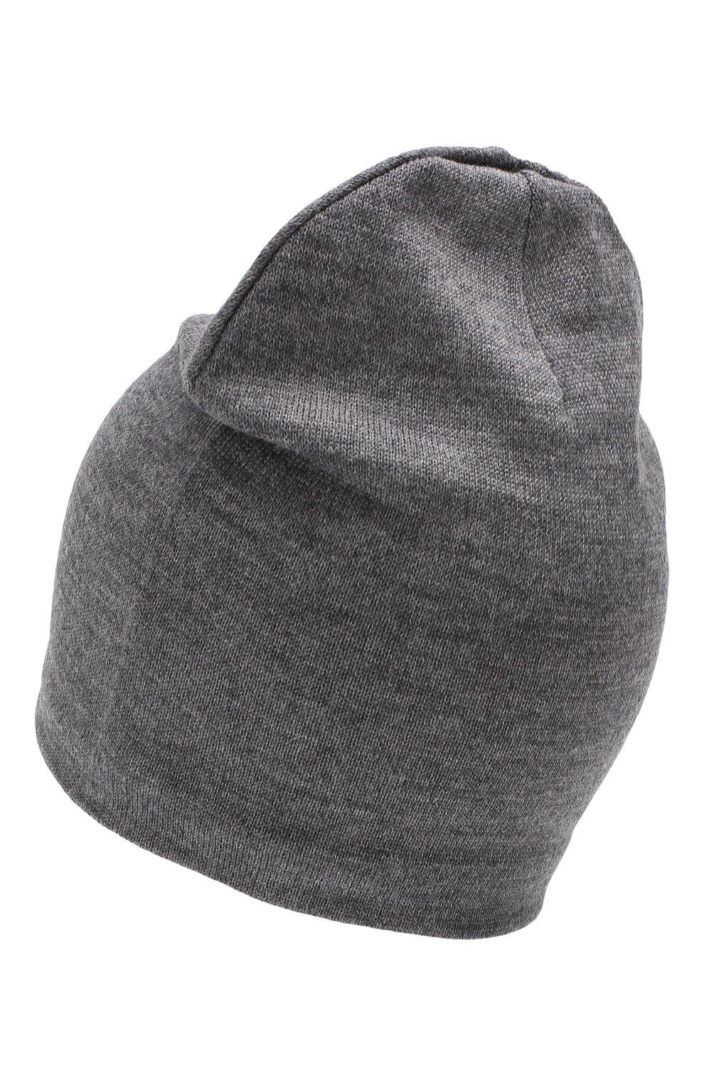 Детского шерстяная шапка CATYA темно-серого цвета, арт. 923690/1   Фото 2
