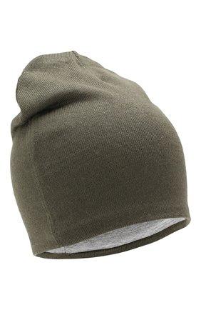 Детского шерстяная шапка CATYA хаки цвета, арт. 923690/1 | Фото 1