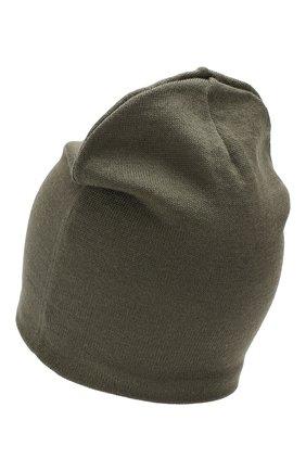 Детского шерстяная шапка CATYA хаки цвета, арт. 923690/1 | Фото 2