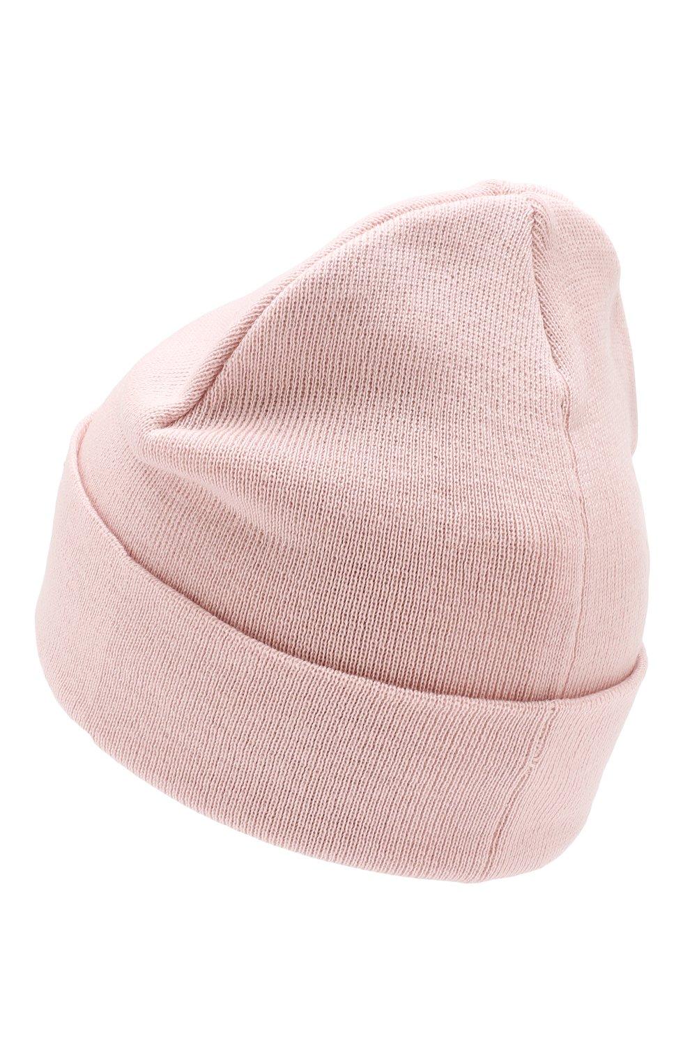 Шерстяная шапка Catya светло-розового цвета | Фото №2