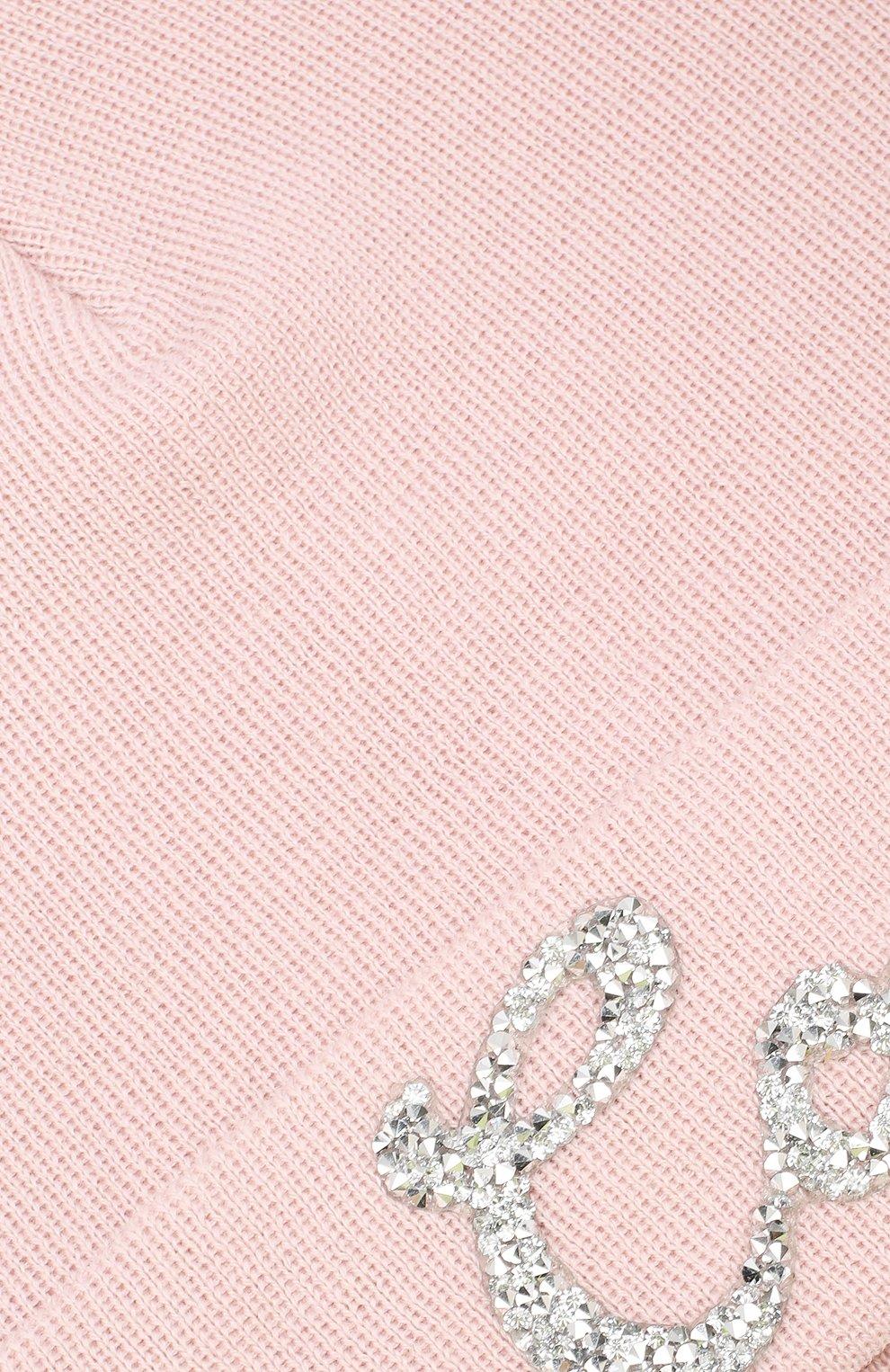 Шерстяная шапка Catya светло-розового цвета | Фото №3
