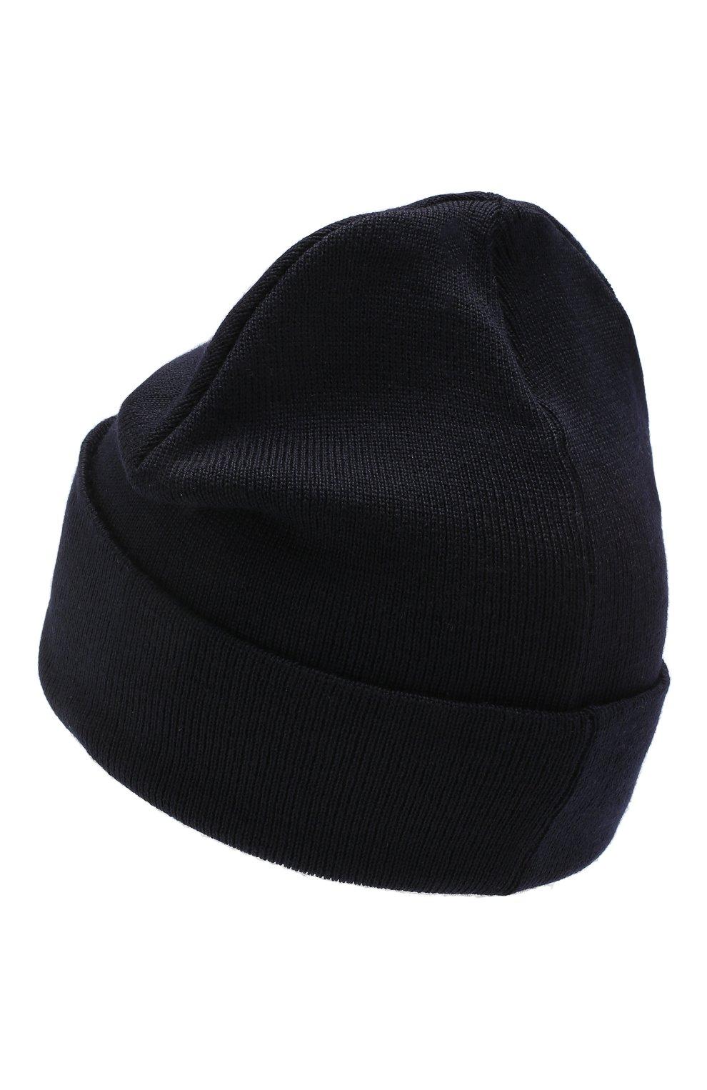 Детского шерстяная шапка CATYA темно-синего цвета, арт. 923522/2 | Фото 2