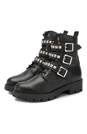 Детские кожаные ботинки TREVIRGOLAZERO 3,0 черного цвета, арт. J0DY/37-40 | Фото 1