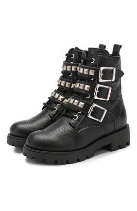 Детские кожаные ботинки TREVIRGOLAZERO 3,0 черного цвета, арт. J0DY/30-36 | Фото 1